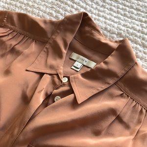 J. Crew Tops - JCREW Dusty Pink Silk Button Down - Size 2